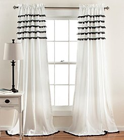 Lush Decor Aria Pom Pom Window Curtain