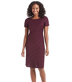 R&M Richards® Petites' Chevron Sheath Dress
