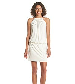 Jessica Simpson Halter Neckline Blouson Dress