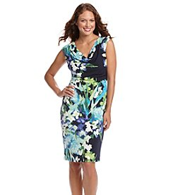 Vince Camuto® Draped Floral Dress