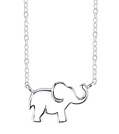 LArocks® Sterling Silver Elephant Mini Necklace