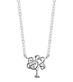 LArocks® Sterling Silver Family Tree Mini Necklace