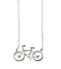 LArocks Sterling Silver Bicycle Necklace