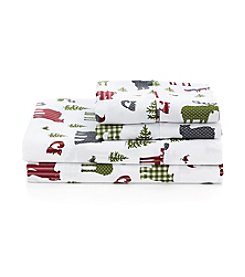 LivingQuarters Cold-Weather Performance Woodland Critters Microfiber Sheet Set