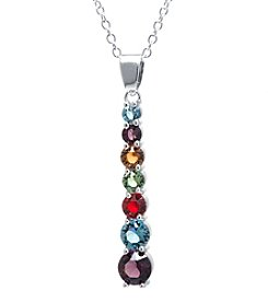 Silver-Plated Swarovski Crystal Journey Pendant Necklace