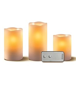 3-pc. Flameless LED Candle Set with Remote