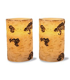2-pc. Flameless LED Birch Candle Set with Timer