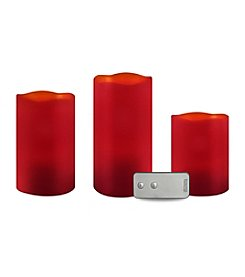 3-pc. Flameless LED Cinnamon Candle Set with Remote