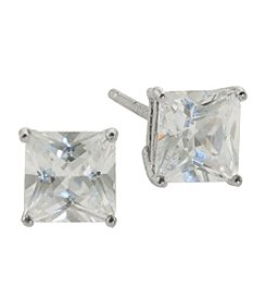 Sterling Silver 6mm Cubic Zirconia Stud Earrings