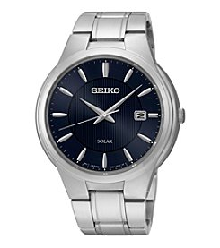 Seiko® Men's Solar Calendar Watch
