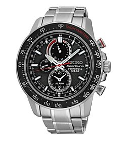 Seiko® Men's Sportura Solar Perpetual Chronograph Watch