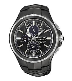 Seiko® Men's Coutura Solar Perpetual Chronograph Watch