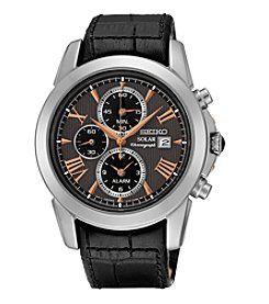 Seiko® Men's Le Grand Sport Solar Alarm Chronograph Watch