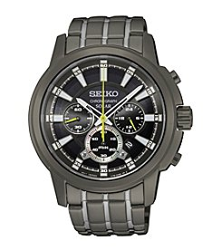 Seiko® Men's Solar Chronograph Watch
