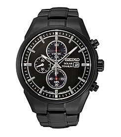Seiko® Men's Titanium Solar Chronograph Watch