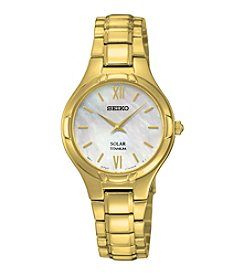 Seiko® Women's Titanium Solar Watch