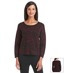Chelsea & Theodore® Animal Print Sweater