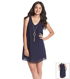 A. Byer Trapeze Necklace Dress