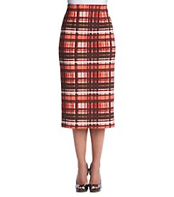 XOXO® Plaid Midi Skirt