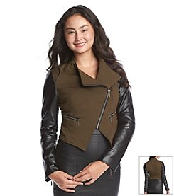 XOXO® Faux Leather Moto Jacket