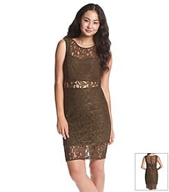 XOXO® Paisley Lace Sheath Dress