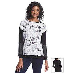 Kensie® Mix Media Sweatshirt