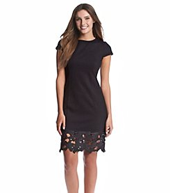 Kensie® Crochet Trim Ponte Dress