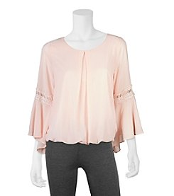 A. Byer Bell Sleeve Top