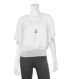 A. Byer Necklace Flutter Top