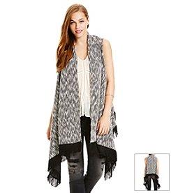 Jessica Simpson Fringe Sweater Vest