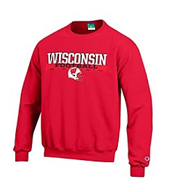 Champion® Men's School Wisconsin Football Helmet Crew Neck Sweatshirt