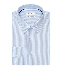 Calvin Klein Men's Check Pattern Long Sleeve Dress Shirt