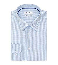 Calvin Klein Men's Check Pattern Long Sleeve Dress Shirt