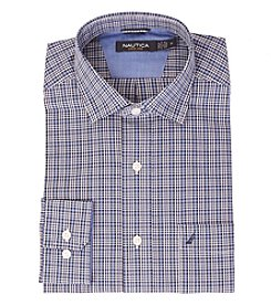 Nautica® Men's Long Sleeve Small Plaid Button Down