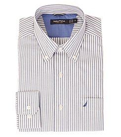 Nautica® Men's Long Sleeve Fine Stripe Button Down