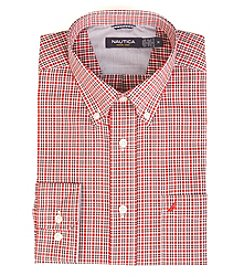 Nautica® Men's Long Sleeve Mini Plaid Button Down