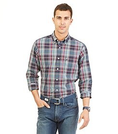 Nautica® Men's Long Sleeve Large Plaid Poplin Button Down