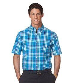 Chaps® Men's Big & Tall Short Sleeve Plaid Button Down
