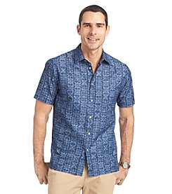 Van Heusen® Men's Big & Tall Short Sleeve Printed Woven Button Down Shirt