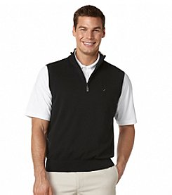 Callaway® Men's 1/4 Zip Mock Sweater Vest