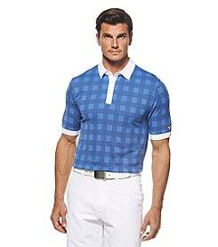 Callaway® Men's Short Sleeve Jacquard Checkered Polo