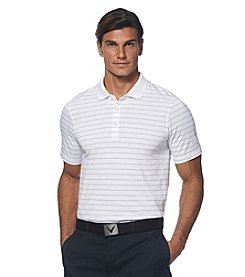 Callaway® Men's Short Sleeve Chalk Stripe Polo