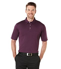 PGA TOUR® Men's Short Sleeve Pocket Jacqurad Polo