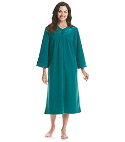Miss Elaine® Long Zip Up Robe
