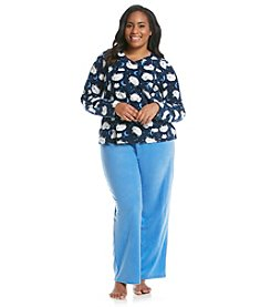 Intimate Essentials ®Plus Size Sheep Fleece Pajama Set