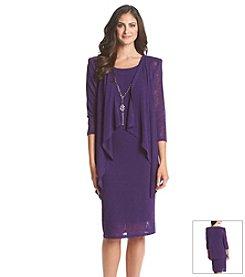 R&M Richards® Slub Knit Jacket Dress