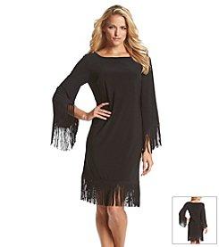 R&M Richards® Fringe Shift Dress