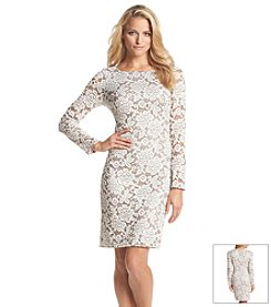 Jessica Howard® Lace Metallic Dress