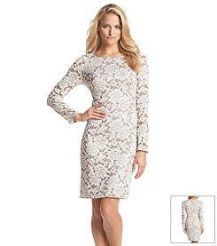 Jessica Howard® Lace Metallic Dress