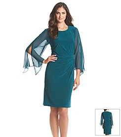 MSK Chiffon Side Draped Dress